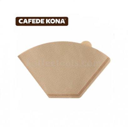 กระดาษกรองกาแฟดริปทรงกรวยตัด 102 (Ck 9199) 100 pcs ยี่ห้อ cafede kona
