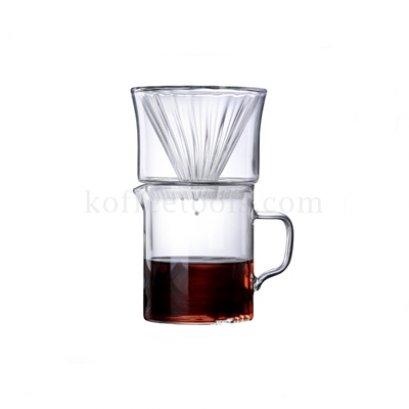 ชุด dripper( 1-2 cup) + server 400ml แก้วโบโร