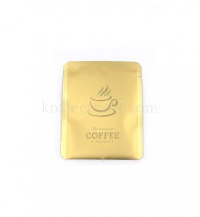 ซองฟอยล์ใส่กาแฟดริปสีทอง ขนาด 10x12.5cm (50 pcs/pack)