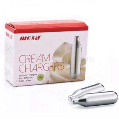 ก๊าซ NO2 whip cream charger ยี่ห้อ MOSA