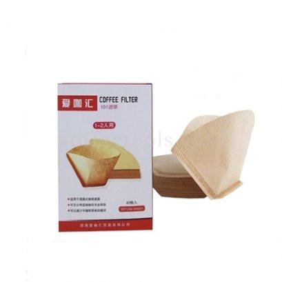 กระดาษกรองทรงกรวยตัดสีน้ำตาล 101 (40pcs/pack)