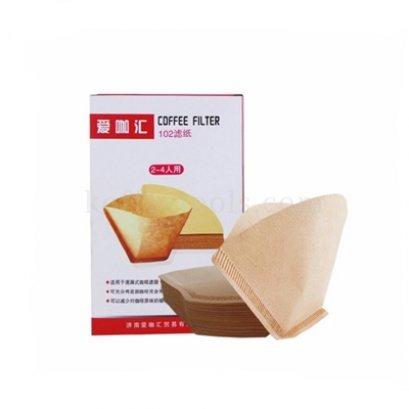 กระดาษกรองทรงกรวยตัดสีน้ำตาล 102 (40pcs/pack)