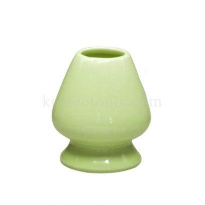 ที่วางแปรงชงชาขียวมัทฉะเซรามิกสีเขียวมะนาว