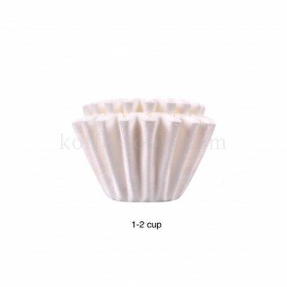 กระดาษกรองทรงตะกร้า (1-2 cup) สีขาว