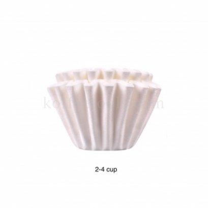 กระดาษกรองทรงตะกร้า (2-4 cups) สีขาว