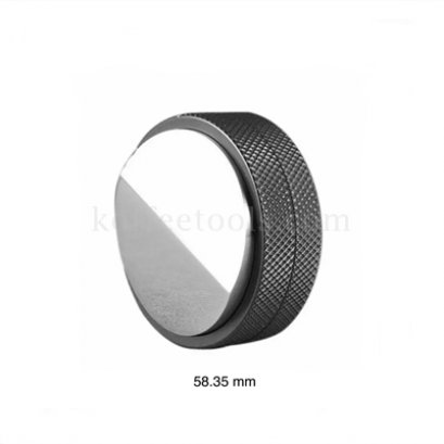 แทมเปอร์มาการองแบบลิ่ม สีดำ ขนาด 58.35 mm