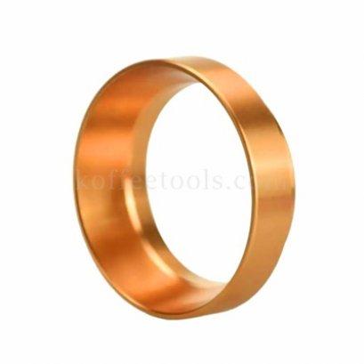วงแหวนครอบด้ามชงกาแฟ สีส้มทอง ขนาด 51 mm