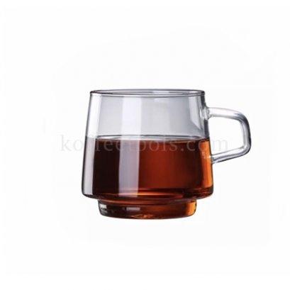 แก้วกาแฟใส มีหูจับ 250 ml (crystal series coffee cup)