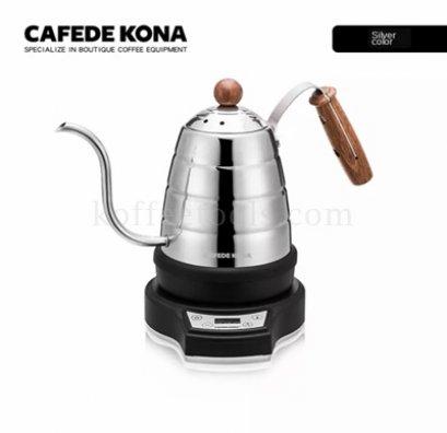 กาดริป 700 ml สีเงิน + แท่นไฟฟ้า ยี่ห้อ cafede kona
