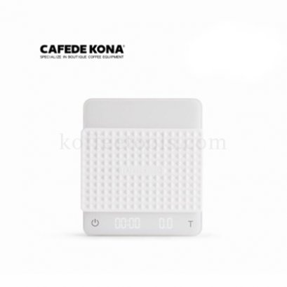 LED electronics scale (Dual-screen) GHOST สีขาว ยี่ห้อ cafede kona
