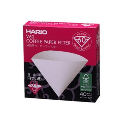 HARIO(028)V60 Paper Filter 01 W 40 Sheets/VCF-01-40W