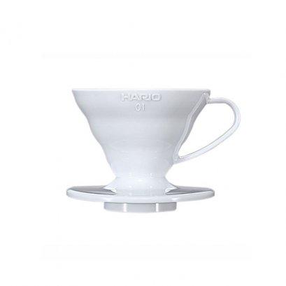 ดริปเปอร์ พลาสติก Hario 01 สีขาว /  HARIO(038) V60 Coffee Dripper/ VD-01W