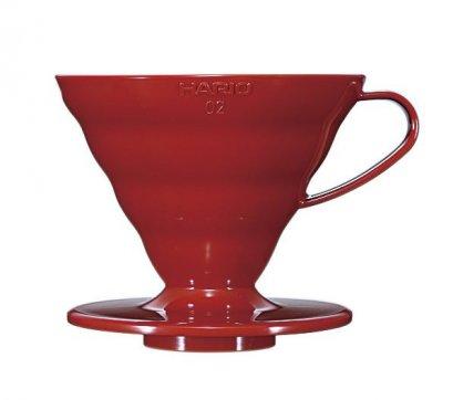 ดริปเปอร์ พลาสติก Hario 02 สีแดง / HARIO(039) V60 Coffee Dripper/VD-02R