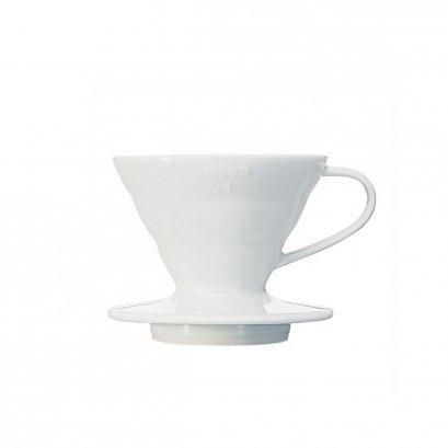 ดริปเปอร์ Hario 01 เซรามิค สีขาว / HARIO(042) V60 Coffee Dripper 01 Ceramic/ White/VDC-01W