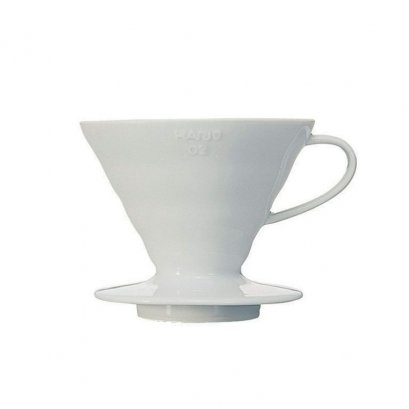 HARIO(043) V60 Coffee Dripper 02 Ceramic/ White/VDC-02W