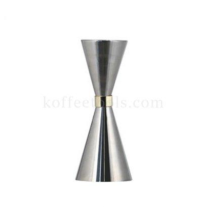 จิกเกอร์ตวงสแตนเลส304( 30/45 ml) สีเงิน