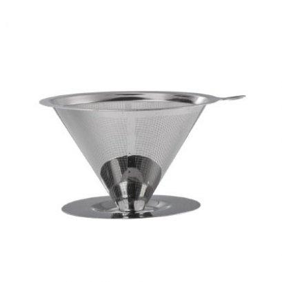 กรวยดริปกรองกาแฟสแตนเลส L-BEANS (1-4 cup)