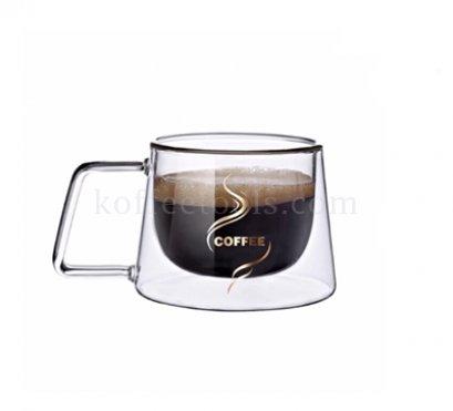แก้วกาแฟ 2 ชั้น 180 ml (พิมพ์ COFFEE)
