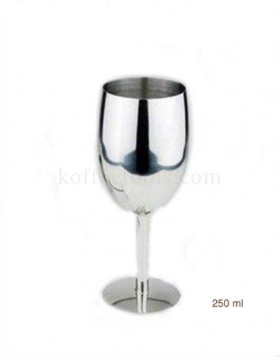 แก้วไวน์สแตนเลส304 wine cup 250 ml
