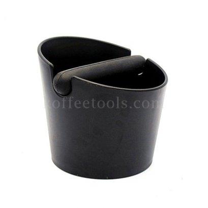 อ่างเคาะกากกาแฟพลาสติกฐานกลม สีดำ