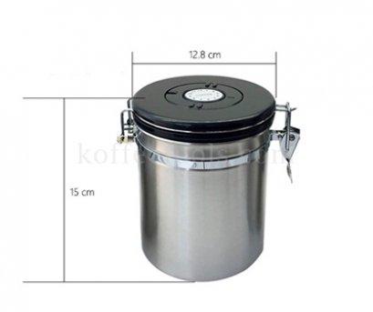 โถสแตนเลสสูญญากาศเก็บเมล็ดกาแฟ M (400 g)
