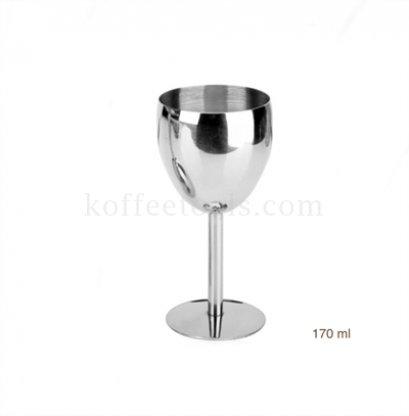 แก้วไวน์สแตนเลส304 wine cup ขนาด 170 ml