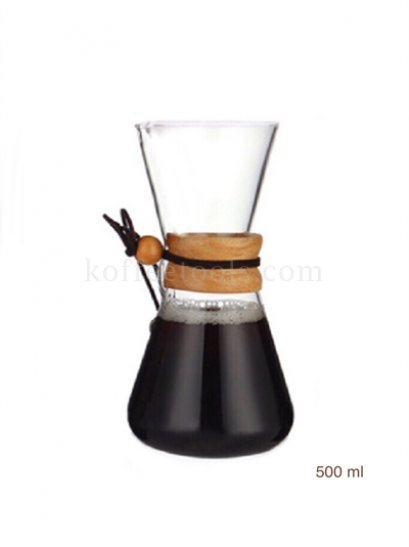 Glass Coffee Hand punching pot 600 ml
