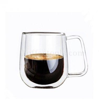 แก้วกาแฟใส 2 ชั้น ขนาด 200 ml (dw)