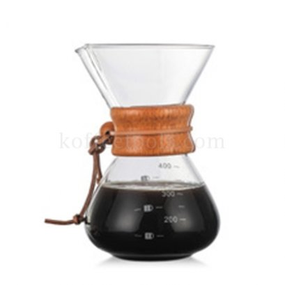 Glass Coffee Hand punching pot 800 ml (6 cups)