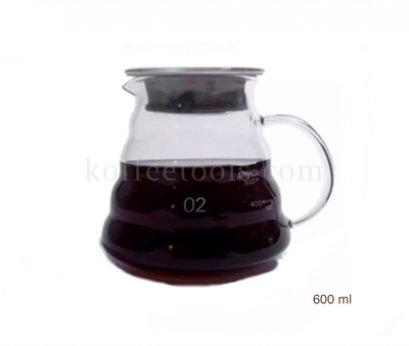 โถแก้วรองกาแฟดริป No.2 (600ml)