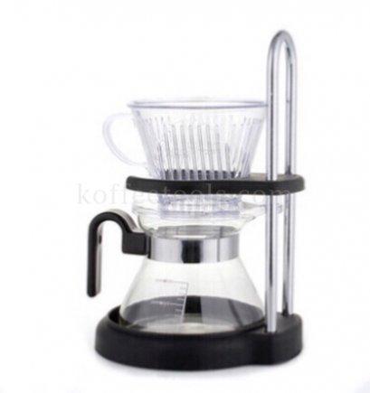 ชุดดริปกาแฟ [ ดริปเปอร์กรวยตัด(2-4 cup)+แท่น+โถรองกาแฟ 300 ml ]