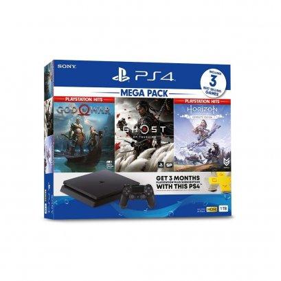 PS4 Slim 1 TB - MEGA PACK ชุดใหม่ ฟรี 3 เกม ตามหน้ากล่อง