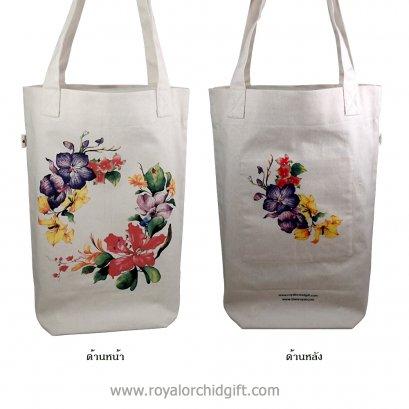 ถุงผ้าฝ้ายธรรมชาติ Floral Wreath 1 & 2