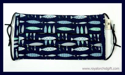 หน้ากากผ้าฝ้ายลายปลา