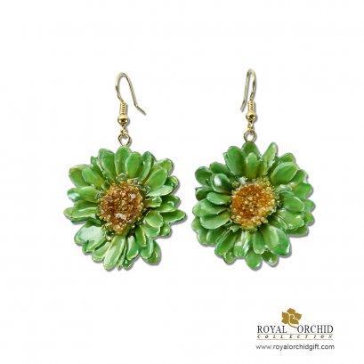 ต่างหูดอกพูม่าสีเขียว - Puma Earring