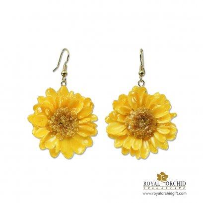 ต่างหูดอกพูม่าสีเหลือง - Puma Earring