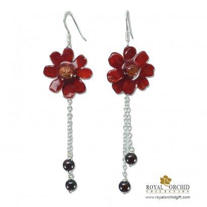 ต่างหูดอกไม้ในวงศ์ทานตะวัน - Compositae Earring