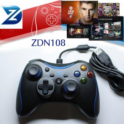 จอยPC ZDN108 แบบมีสายสีน้ำเงิน