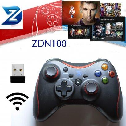 จอยPC ZDN108 แบบไร้สายสีแดง