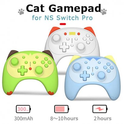 จอยเกมไร้สายCute Cat Gamepad For Nintendo Switch Pro NS Switch Lite Controller Wireless Controller