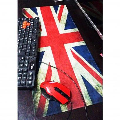 แผ่นรองเม้าส์ ขนาด80X30CM  ธงชาติอังกฤษ
