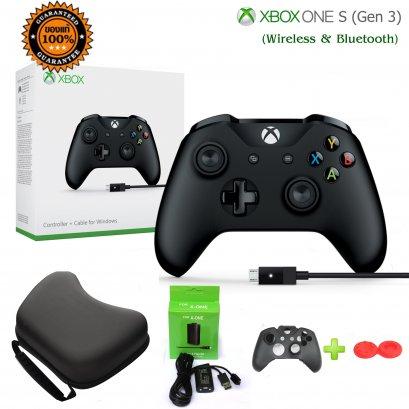 Xbox One S Controller (Gen 3) (Wireless & Blue) สีดำพร้อมแบต