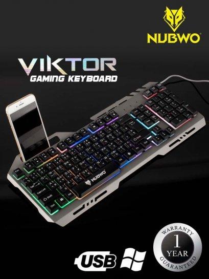 NUBWO เกมมิ่งคีย์บอร์ด NK-47 Viktor Gaming Keyboard