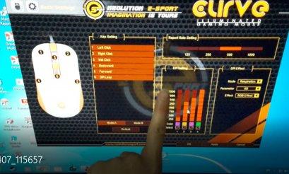 เม้ามาโครรุ่นcurve ค่าย Neolution E-Sport  แดง