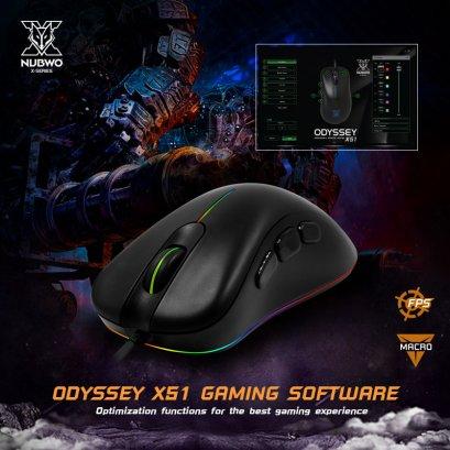 Mouse (เมาส์มาโคร) NUBWO ODYSSEY X51