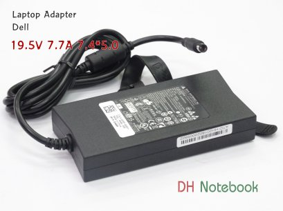 Adapter Notebook For DELL 19.5V 7.7A (7.4*5.0) Slim ของแท้