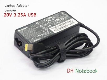Adapter For Lenovo 20V 3.25A USB