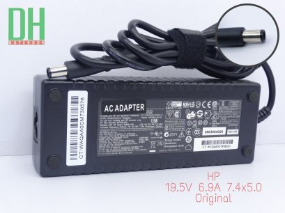 Adapter HP 19.5V 6.9A (7.4*5.0) เเท้