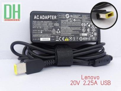Adapter Lenovo 20V 2.25A USB เเท้