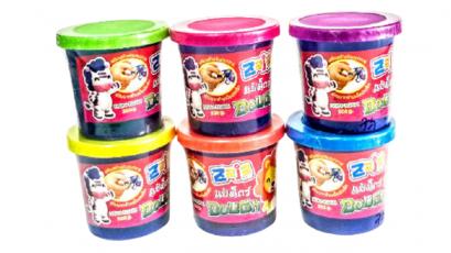 แป้งโดว์ 20 g คละสี ( 1 แพ็ค 4 ก้อน)